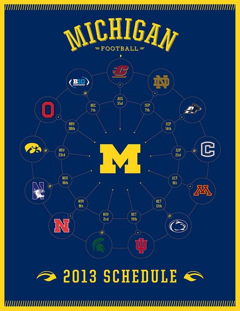 2013 Michigan Wolverines Football Schedule