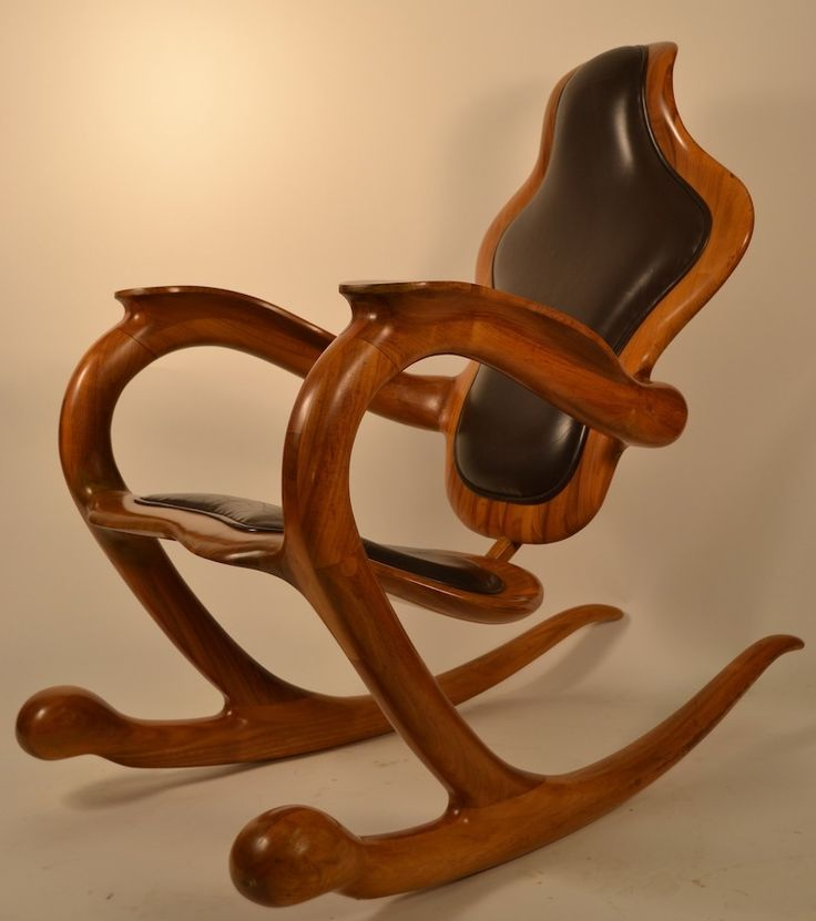 Organic Modern Rocking Chair Signed Sterling Johnson