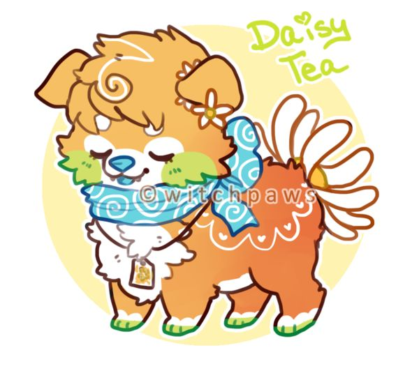 Daisy Tea Sushi Dog Auction (Closed) by witchpaws on deviantART