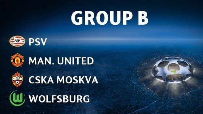 UCL 15/16 preview / Group B : PSV, Manchester United, CSKA Moskow, Wolfsburg
