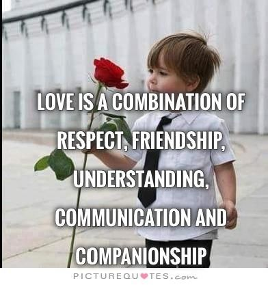 Love is a combination of respect, friendship, understanding, communication and companionship | PictureQuotes.com