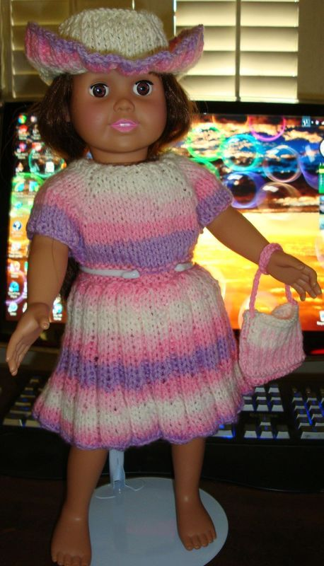 Ladyfingers - AG doll - Basic Casual Dress - with 5 Variations