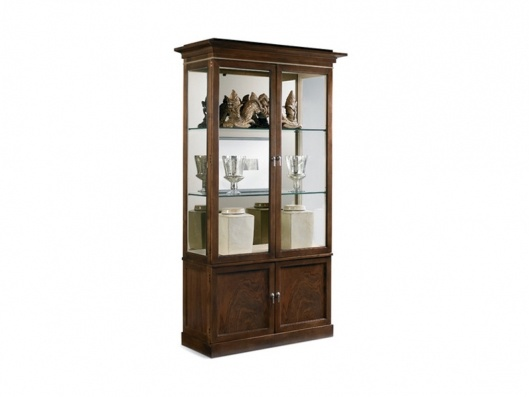 Small China Cabinet | Stratos Hickory White