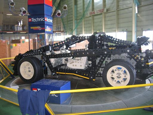 Lego 8880 Super Car scaled up to life size!