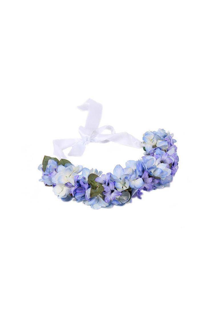 Corona de flores azul hortensia coronas de flores - Coronitas de flores ...