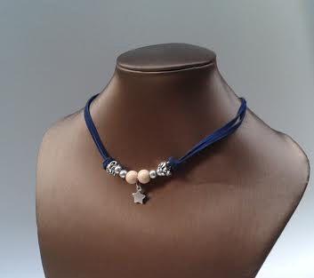 Blue Collar adjustable star by yotoko on Etsy