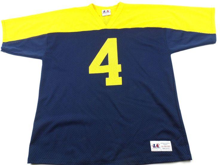 Vintage Logo Athletic Green Bay Packers Brett Favre Mens XL 50 - 52 Blue Yellow #LogoAthletic #GreenBayPackers