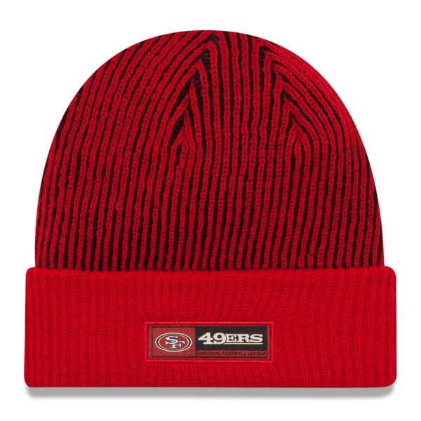 San Francisco 49ers New Era Youth 2016 Sideline Official Tech Knit Hat - Red - $21.99