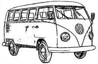 'Volkswagenbus' door www.stempelgalerie.nl, een winkel stampvol stempels