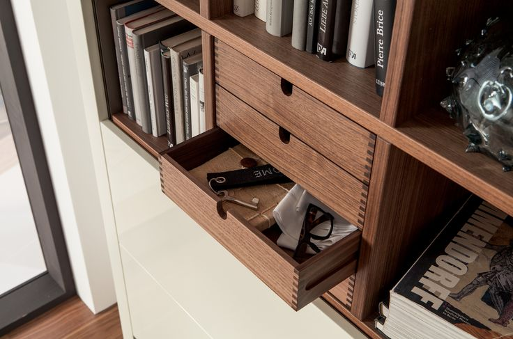 XELO Lacquered bookcase by Hülsta-Werke Hüls
