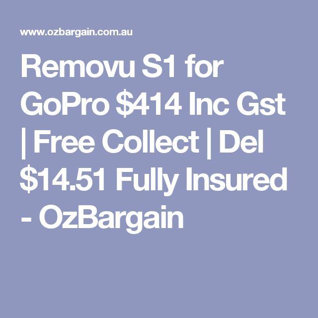 Removu S1 for GoPro $414 Inc Gst | Free Collect | Del $14.51 Fully Insured - OzBargain https://www.camerasdirect.com.au/removu-s1-for-gopro