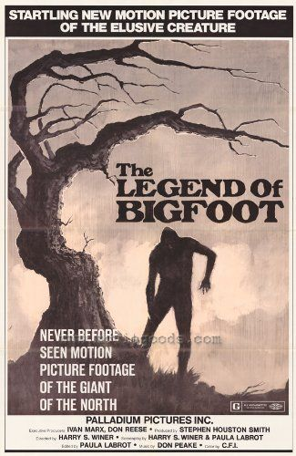 Legend of Bigfoot Movie Poster (27 x 40 Inches - 69cm x 102cm) (1976)