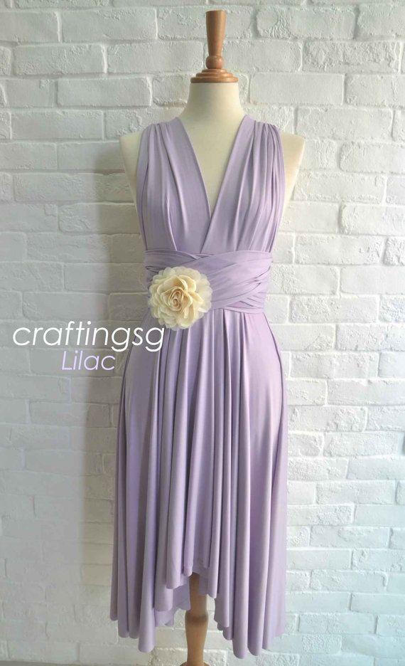 Bridesmaid Dress Infinity Dress Lilac Knee by thepeppystudio