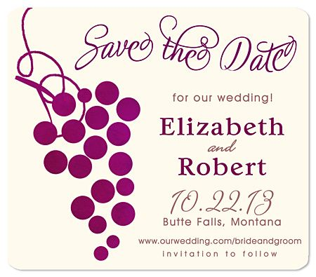 Grape Save the Date Wedding Magnets