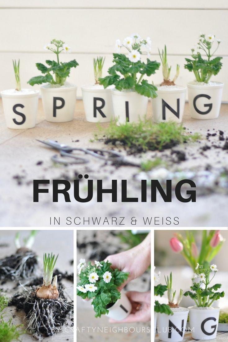Unsere Frühlingdeko bringt wunderschöne Stimmung ins Haus . Unsere Idee auf dem Blog craftyneighbourscom.com