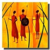 Three African Men on canvas  #art #africa #people #abstract #red #orange  #blue http://www.thecanvasartfactory.com.au