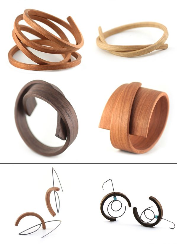 wood jewelry | Contemporary wood jewelry-Reyes-collabcubed