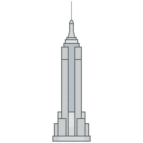 empire state building industrial chic cross stitch chart empire state industrial and chic. Black Bedroom Furniture Sets. Home Design Ideas