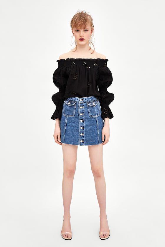 effc4635e43be5 MINI FALDA HIGH RISE AUTHENTIC DENIM en 2019 | me.fashion | Jupe ...