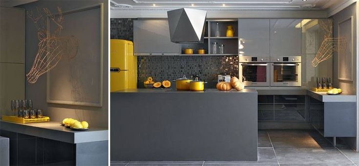133 best images about kitchen ideas on pinterest for Gray and yellow kitchen ideas