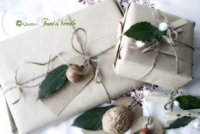 Quattro toni di verde: #natalealverde Alloro e nocciole, doni dal bosco, per pacchetti e segnaposto