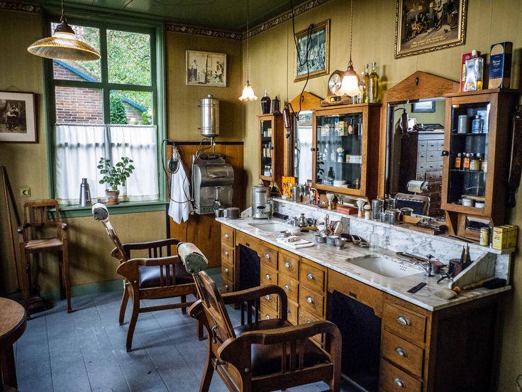 Rustic style barber shop interior salon pinterest shops makeup salon and vintage - Barber shop interior ...