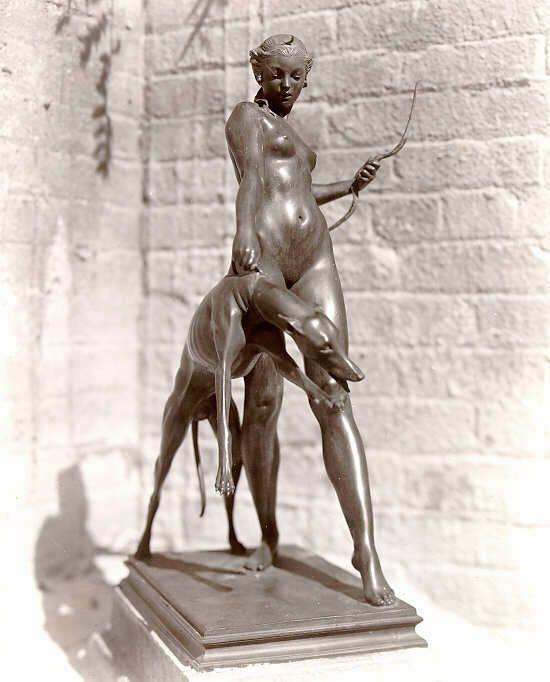 Diana with Dog - Brookgreen Gardens by Edward Francis McCartan 1879-1947