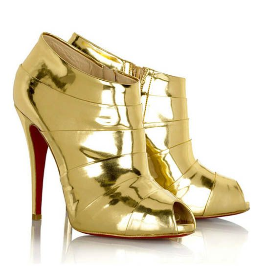 Christian Louboutin Robot 120 ankle boots (Gold) Christian Louboutin,Christian  Louboutin Shoes Sale At Outlet Store