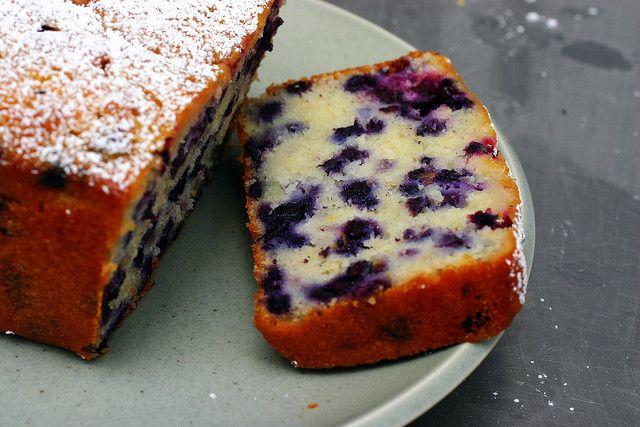 lemon blueberry yogurt cake by smitten, via Flickr