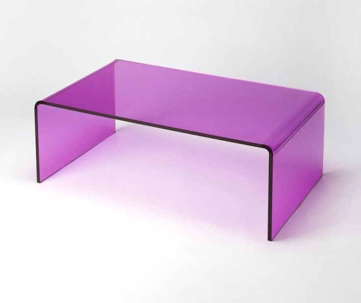 3398339 in by Butler Specialty Company in Bowling Green, KY - Even though it's totally transparent, you cannot miss the POP of the Purple Acrylic cocktail table. The super modern design will express your chic style and show off your great taste.