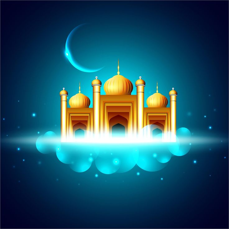 wedding card backgrounds vectors%0A Muslims Eid Mubarak Festival Vector Background Or Mosque
