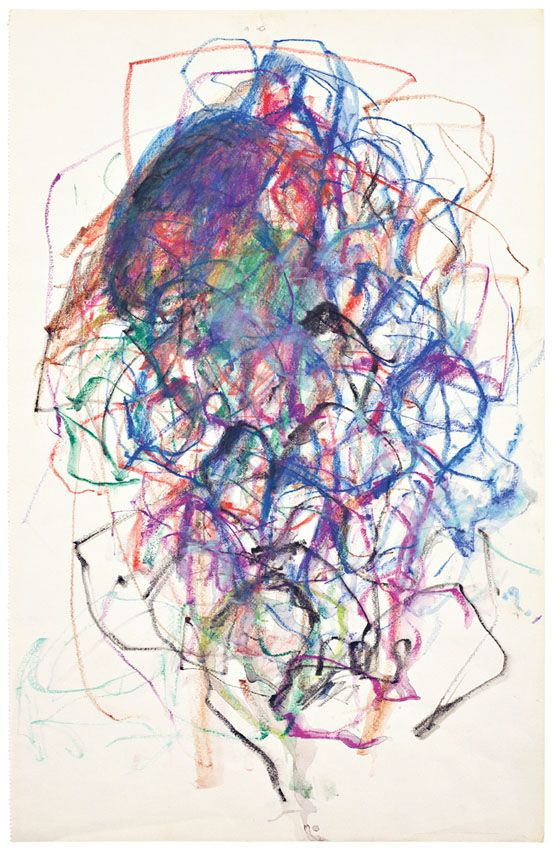 Joan Mitchell. Untitled, 1967. Colored pencil and watercolor on paper.