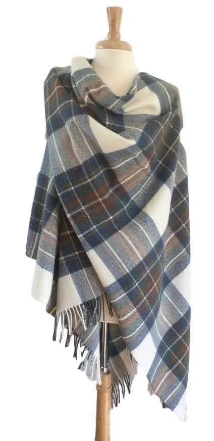 Rapidly becoming the ultimate fashion accessory these magnificent Tartan Ruanas incorporate the traditional tartans of the Clans that once ruled the mighty Scottish Highlands. Functional, beautiful an