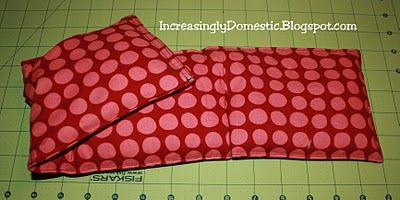Make rice/flax neck heating bag. from Increasingly Domestic blog.