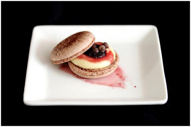 Black forest macarons | French Macaron Recipes | Pinterest | Black ...