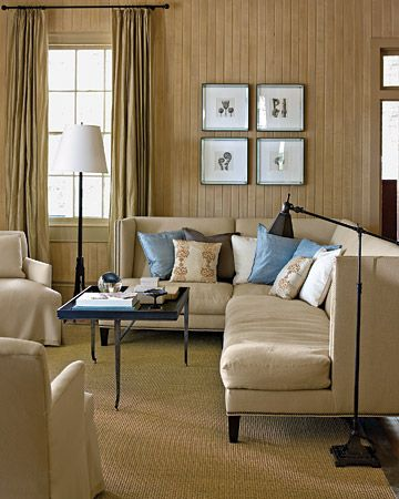 This Country Cottage Living Room Is A Great Example Of Neutral Color Scheme The Dominant Dark Beige Brown Gives Naturalistic