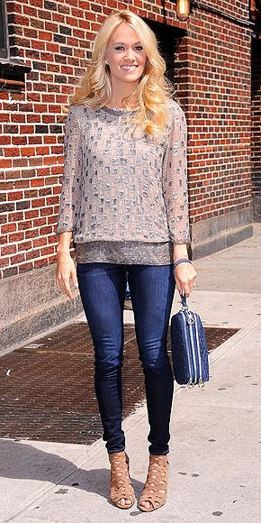 Sparkly Top + Skinny Jeans...PERFECT.