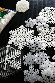 flocon de neige en perle à repasser