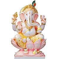 Marble Ganesh Statue - Marble Ganesh Murti, Ganesh Moorti, Marble Ganesh Idol Manufacturer Exporter.