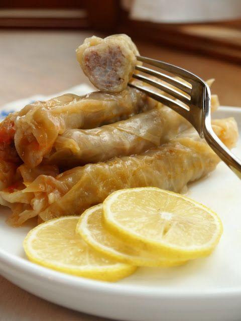 Bint Rhoda's Kitchen: Palestinian-Style Stuffed Cabbage Rolls, or Malfouf
