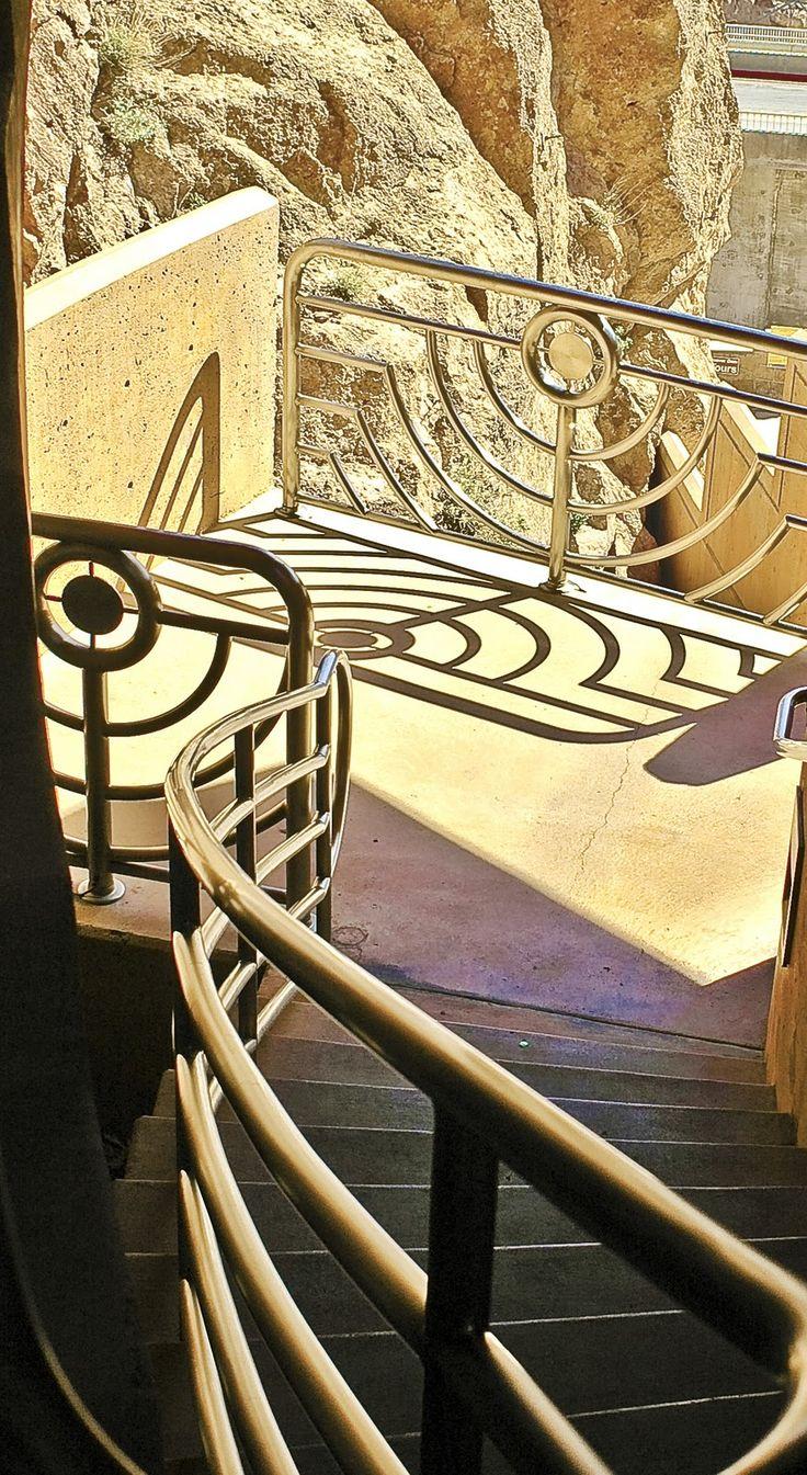 Art Deco stairwell, Hoover Dam. http://www.pinterest.com/brandonwolf/art-art-deco/
