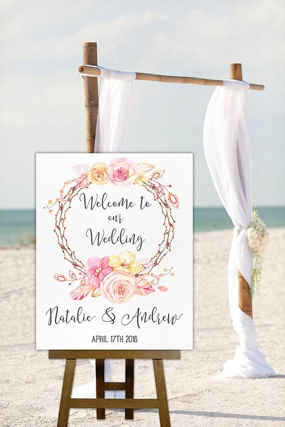 Printable Wedding Sign Wedding Welcome Sign Floral