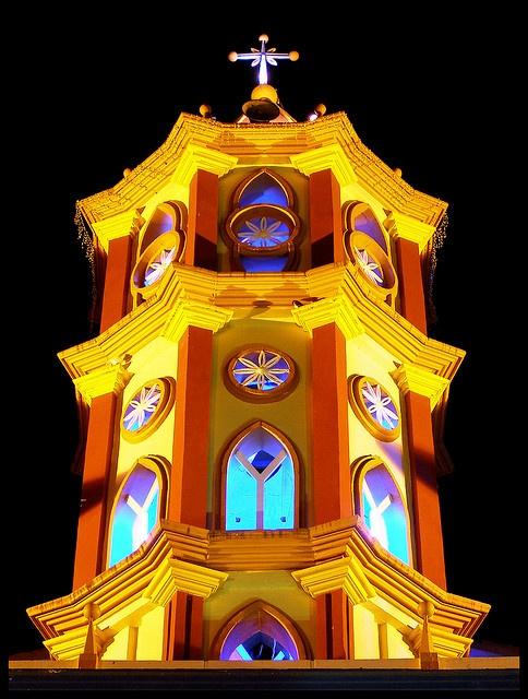 Torre central - Iglesia San Pedro, Seboruco, Municipio Seboruco, Estado Táchira, Venezuela.