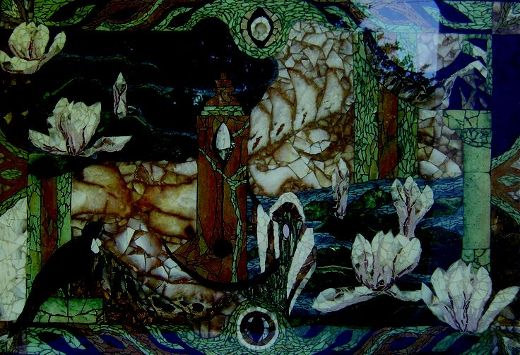 TABLE Title: Midnight Madam SOLD: Ocean Liner The World, private residence California. Artist Michele Bluck
