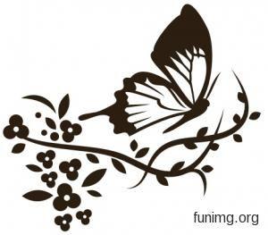 Бабочки 2-003 | Бабочки трафареты для стен и наклейки для декора