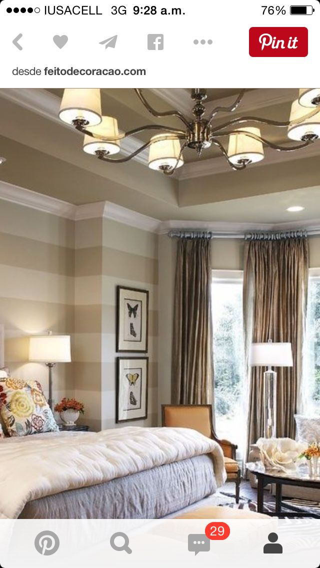 Traditional bedroom design with great pops of