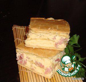 """Пирог """"Сырное суфле"""" - кулинарный рецепт"""