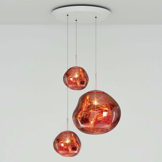Copper Tall Suspension Lamp Tom Dixon Wide Pendant Light Copper Lighting Tom Dixon Copper