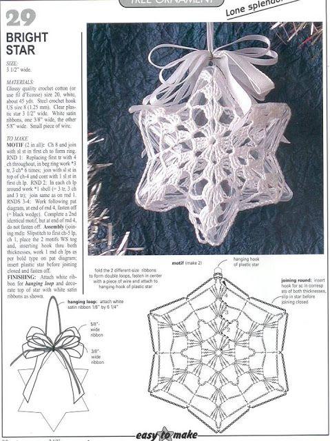 Horgolt mintagyűjtemény: 3D karácsonyi csillag
