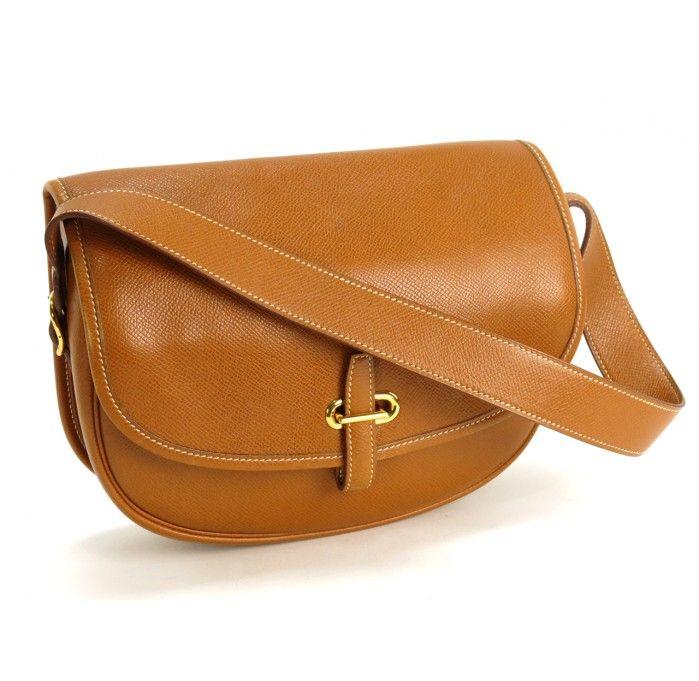 Hermes Vintage Courcheval Leather Balle de Golf Shoulder Bag | Fashion